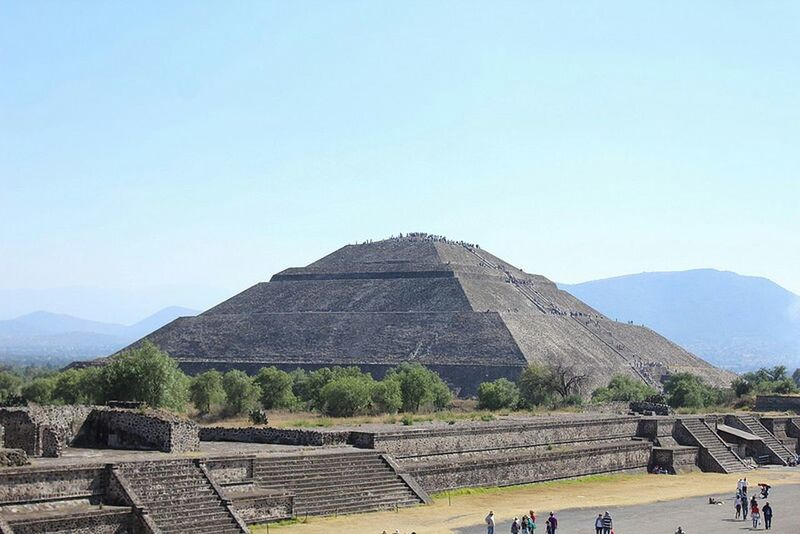 Piramide Del Sol Teotihuacan Mexico Old Civilization