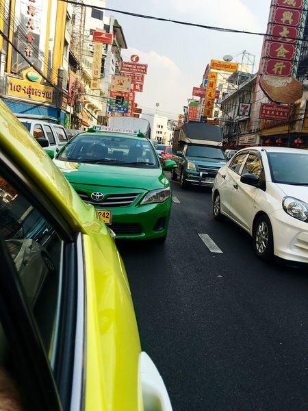 Light traffic Urban Traffic Transportation Taxi Bangkok City Life Mobility In Mega Cities