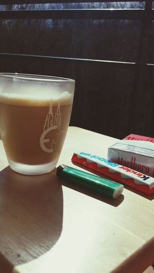 Coffee And Cigarettes Breakfast Chocolate Kinderschokolade Favourite Cup