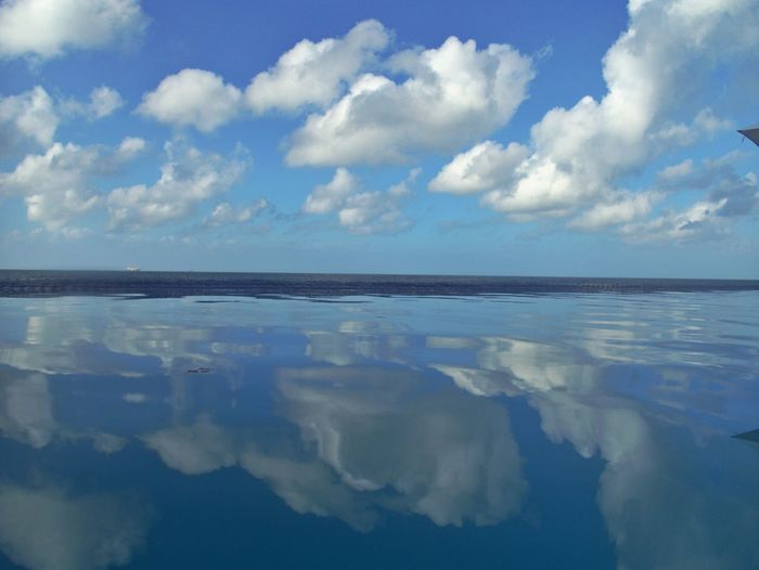Cloud - Sky Sky Water Scenics - Nature Tranquility Tranquil Scene Reflection Sea Beauty In Nature Horizon Over Water Horizon Nature No People Outdoors Waterfront Land
