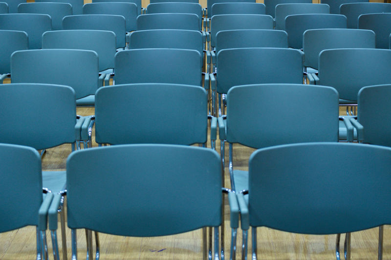 Absence Arrangement Arts Culture And Entertainment Auditorium Chair Day Empty Film Industry Folding Chair In A Row Indoors  Lecture Hall No People Repetition Seat