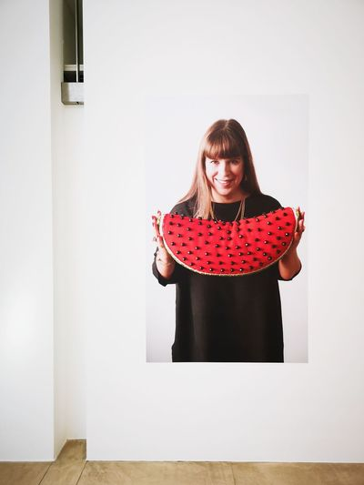 Joanna Vasconcelos, Maximal, in Brühl Portrait Of An Artist Artist And Work Portrait Red Warm Clothing Business Finance And Industry Looking At Camera Arts Culture And Entertainment Front View