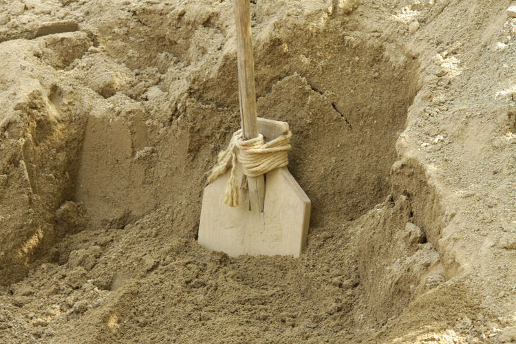 Work Buliding Site Campus Galli Historical Rope Sand Shovel Wood - Material