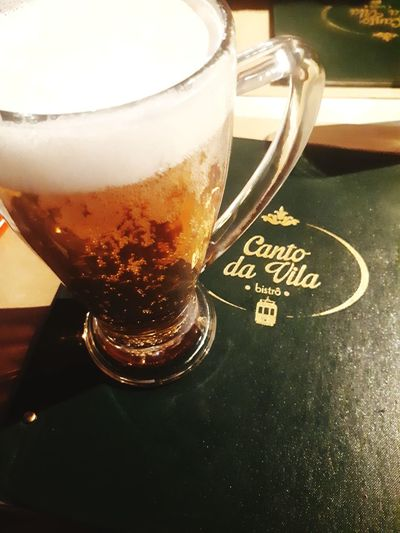 cold beer at Canto da Vila Beer Beer Glass Warm Day Hot Outside Restaurant Portugal Lisbon Lisboa ARTfoxHH Sonnig Bubbles Super Bock Drink Drinking Glass Alcohol Table Close-up Food And Drink Love The Game