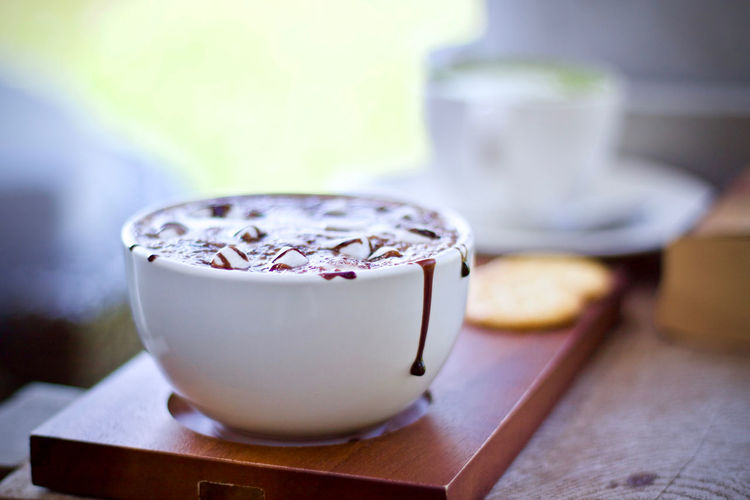 Food And Drink Food Cup No People Freshness Mug Table Focus On Foreground Wood - Material Close-up Coffee Drink Indoors  Coffee - Drink Refreshment Selective Focus Coffee Cup Dairy Product Hot Drink Still Life Tea Cup Breakfast Luxury