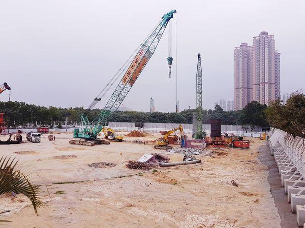 construction Contruction Zone Contruction Crane Crane - Construction Machinery Create Building Buildings Sand Sky Outdoors Day No People Nature