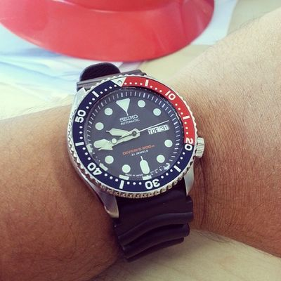 Wore this baby to work today cos its half day!! Have a great NYE ppl!! Seiko Skx009 Skx009j