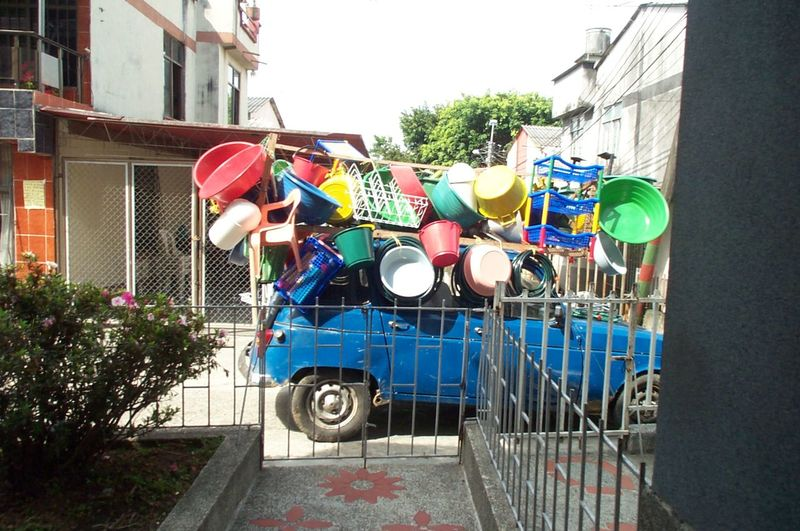 Plastic goods for sale Blue City Life Colombia For Sale Multi Colored PLASTIC CONTAINER Plastics Third World Country