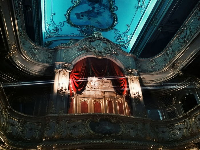 Ornate Indoors  No People Backgrounds Low Angle View Architecture Built Structure Day Opéra Theatre Of Opera And Ballet