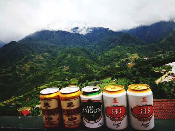 Chilling time in Sapa drinking beers Day No People Mountain Sky Mountain View Nature Agriculture Beauty In Nature Travel Destinations Field Landscape Lifestyles Happiness On Simplicity Love Photograph