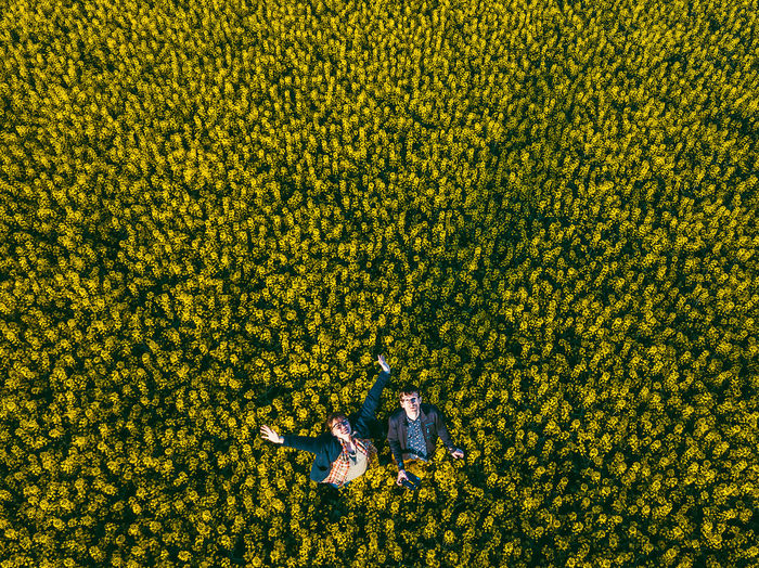 Selfie in the yellow field Aerial Shot City DJI X Eyeem Drone  Abundance Aerial Aerial View Agriculture Beauty In Nature Day Drone Selfie Farm Field Flower Flowering Plant Freshness Growth High Angle View Land Landscape Mavic Mavic Pro Nature Outdoors People Plant Real People Rural Scene Selfie Springtime Two People Yellow The Portraitist - 2018 EyeEm Awards