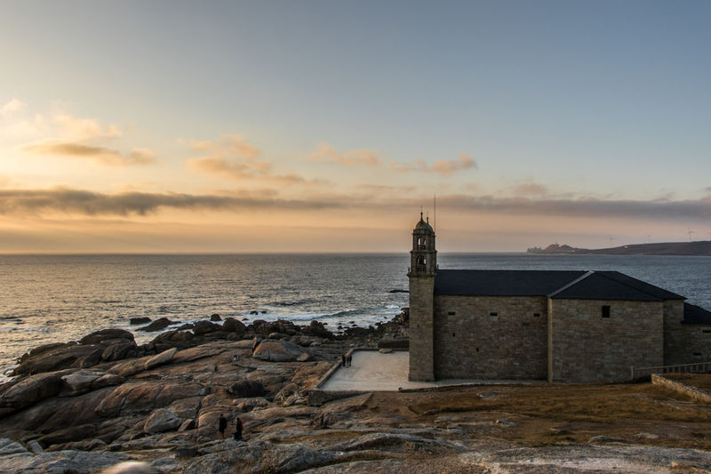 Muxia Church, Galicia Atlantic Ocean Galicia SPAIN Architecture Beach Beauty In Nature Building Exterior Built Structure Cloud - Sky Day España Horizon Over Water Nature No People Outdoors Scenics Sea Sky Sunset Tranquil Scene Tranquility Water