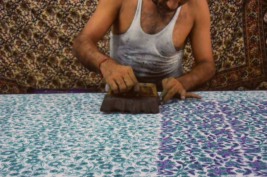 Jaipur Textile Block Printing Handicraft Artisanat India Travel Photography