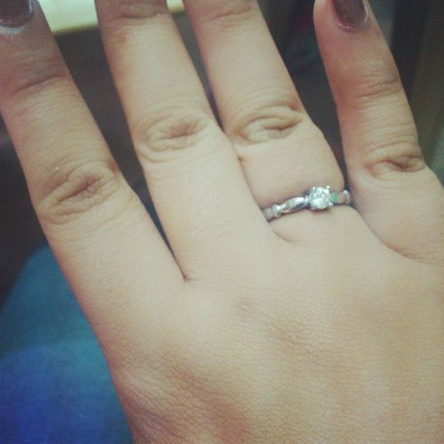 It will always start with a ring. :) Foreverandever (ps. Not an engagement ring lol )