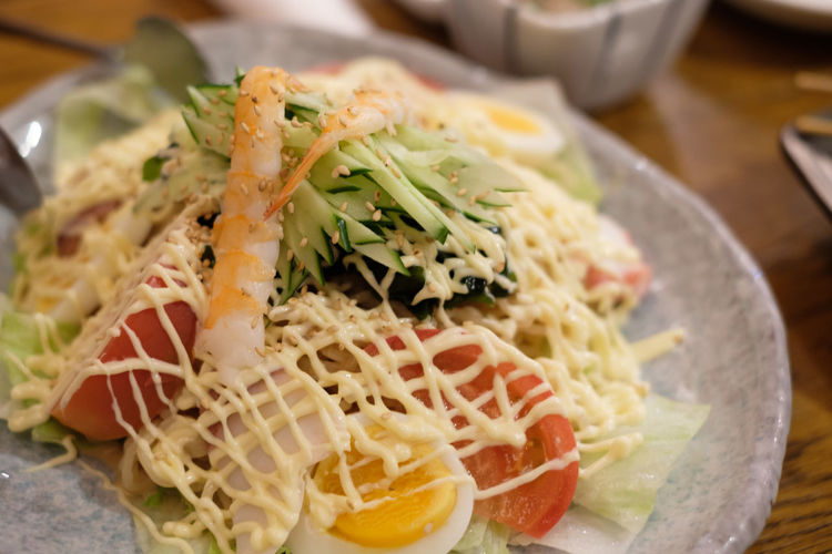 FUJIFILM X-T2 Japan Japan Photography Japanese Food Ramen Salad Salad Tokyo Focus On Foreground Food Food And Drink Fujifilm Fujifilm_xseries Healthy Eating Mayonnaise Plate Ready-to-eat Serving Size X-t2 マヨネーズ ラーメンサラダ 東京
