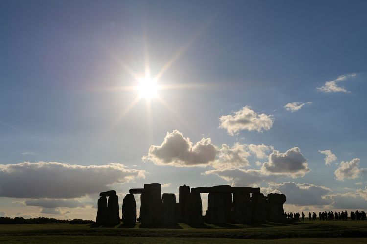 Stonehenge Sky Cloud - Sky Sunlight Nature Field No People Day Lens Flare Sunbeam Architecture Built Structure Outdoors Tranquility Land EyeEmNewHere