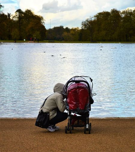 Outdoors Nature Day Mother And Son Wintermornings Coldmornings Hyde Park Kensington Gardens Lake Animals London Uk Great Britain Lovelondon Cold Wintertime Love Motherlove The Street Photographer - 2017 EyeEm Awards The Street Photographer - 2017 EyeEm Awards EyeEm LOST IN London Lost In The Landscape