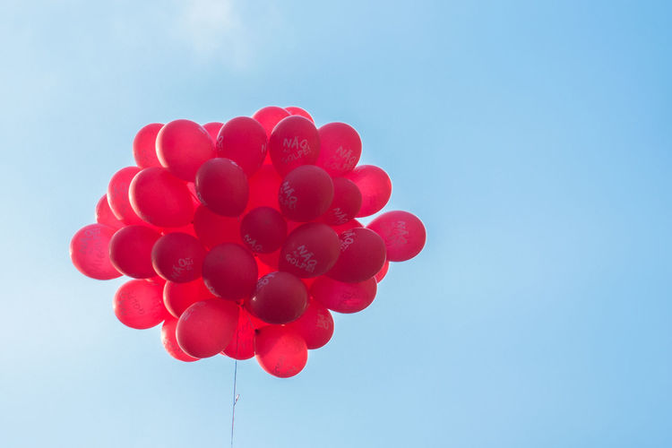 There will be no coup. Não vai ter golpe. Balloons Coup Demonstration Low Angle View Politics Sky