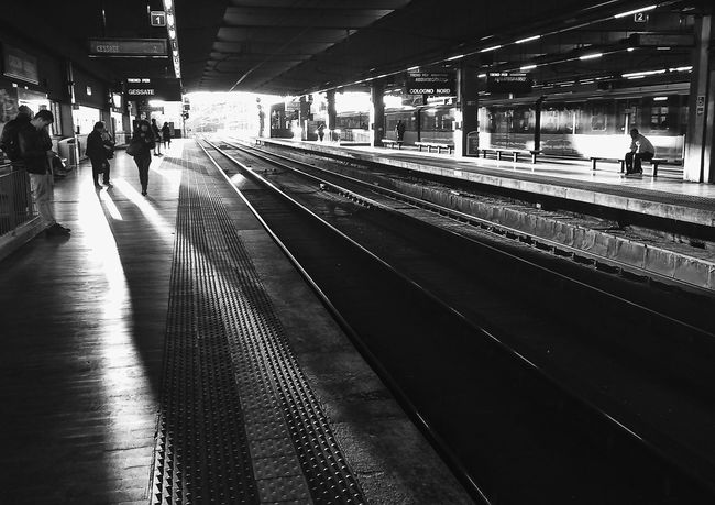 sun flares in the station | iPhone 5S ProCamera | edited with Snapseed//VSCOcam B1//Squaready apps Youmobile Notes From The Underground Blackandwhite IPhoneography