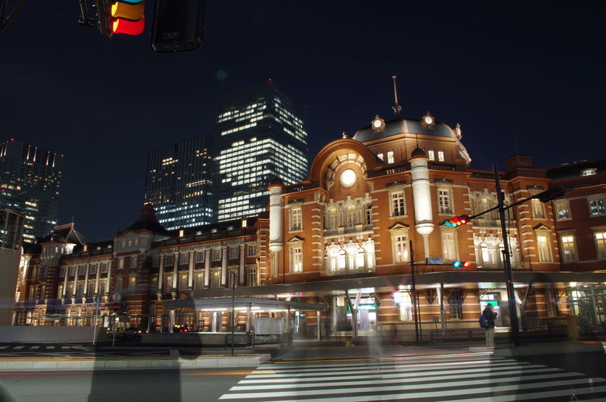Tokyo Station Long Exposure EyeEmNewHere Architecture Building Built Structure Motion Night Street
