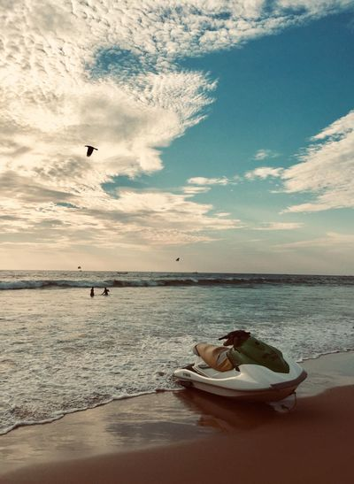 Water Sky Sea Cloud - Sky Beach Beauty In Nature Land One Person Leisure Activity Scenics - Nature Nature Real People Horizon Horizon Over Water Lifestyles Sand Relaxation Tranquility Outdoors