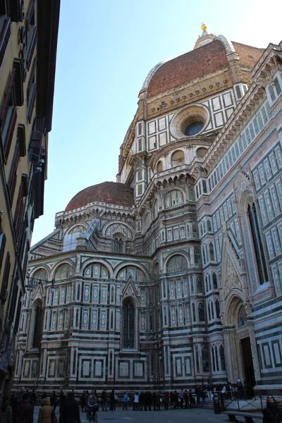 Architecture Built Structure Cathedral Dome Façade Façade Florence Gothic Architecture Gothic Church Il Duomo Italia Italy Low Angle View Marble Marbledstone Shade Toscana Tuscany