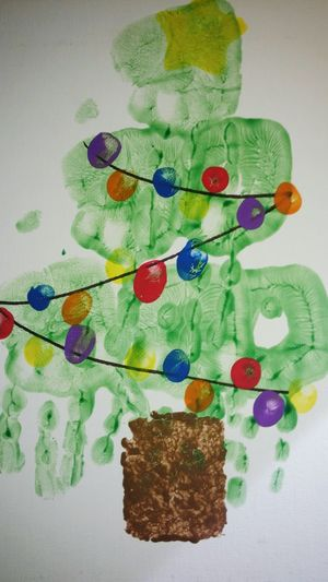 Pre K Art Work Handprint Christmas Tree December 2015 My Olivia