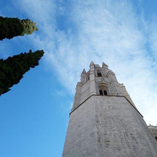 Church Church Architecture Girona Catalunya Catalonia Barri Vell Blue City History Tree Sky Architecture Building Exterior Built Structure Cloud - Sky