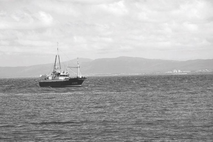 Espagne Boat Sea Blackandwhite First Eyeem Photo