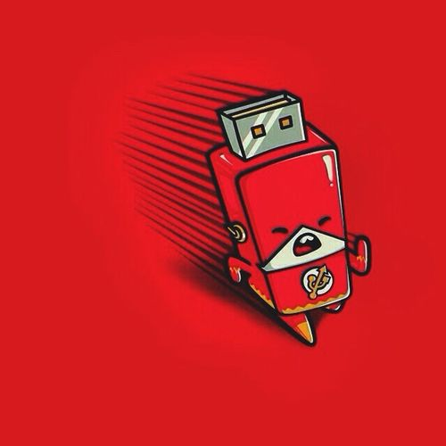 The flash drive