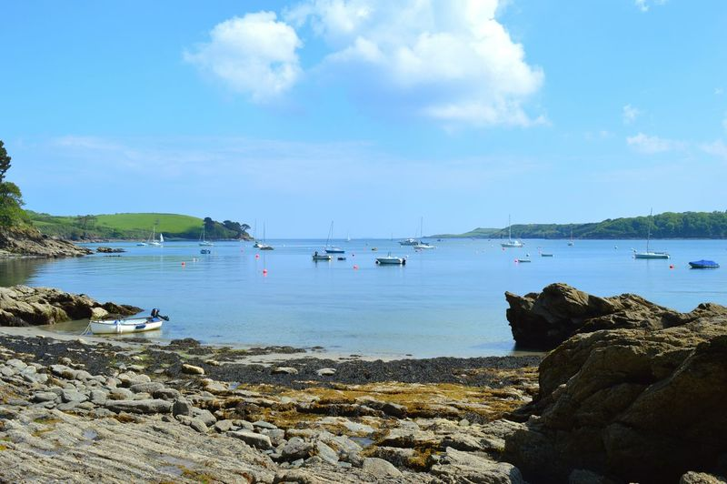Durgan Cornwall England Sea Boats Blue Sky Summer No People Outdoors Travel Destinations Nature Beauty In Nature
