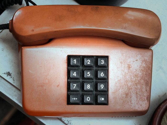 Retro Styled Communication Old-fashioned Telephone No People Close-up Business Finance And Industry Day Technology Indoors  Telephone Receiver Old Phone Old Technology Retro Retro Style From Yesterday  Numpad Wired Telephone Wired History EyeEmNewHere The Week On EyeEm
