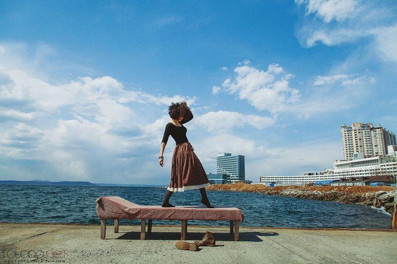 Relaxing Photography Model Girl Taking Photos Street Fashion Popular Photos Enjoying Life Vladivostok Portrait