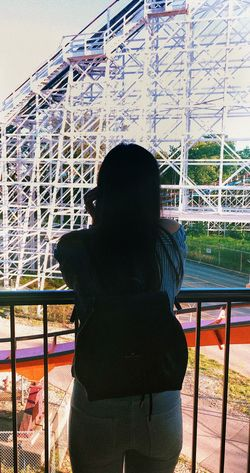 Waiting For You Girl Alone Amusement Park Photography Women Architecture