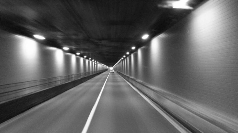 Tunnels EyeEmNewHere Tunnel Tunnelvision 18 Wheeler Life Truckerlife Disappear Mountains West The Way Forward Illuminated Diminishing Perspective Empty Lighting Equipment Ceiling Transportation No People Indoors