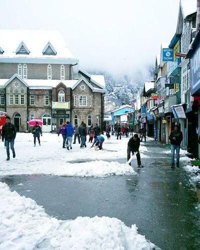 Snowy shimla Shimla MallRoad Townhall Baljees Snow Feb2013 Himalayas Shivalik Himachal Winters Coldshimla Frozen Ankitdogra