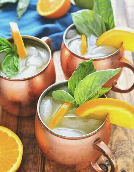 Orange Moscow Mules..certainly will try to make this.. Quenching My Thirst  Cocktails Moscow Mules Looking Good