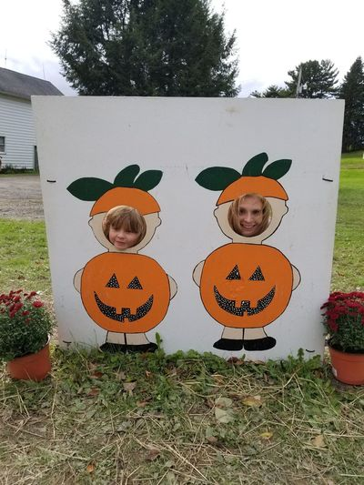 Halloween fun Halloween Tree Pumpkin Child Portrait Anthropomorphic Face Jack O' Lantern Smiling Holiday - Event Christmas Decoration