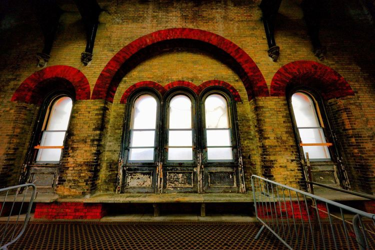 Crossness Pumping Station Arch Architecture Window No People Low Angle View Indoors  Built Structure