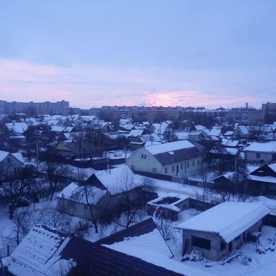 Морозныйрассвет воттакойвотфевраль моеутро Sunset No People Nature