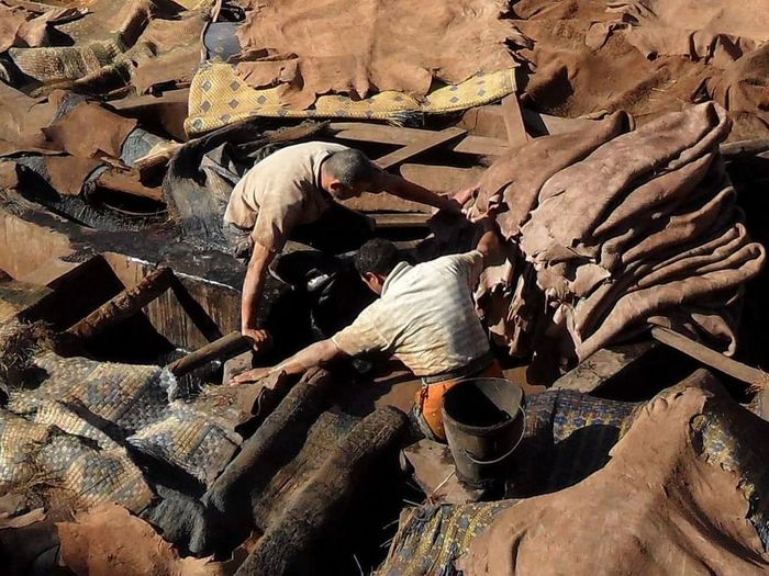 Marrakech Tannery Travel Destinations Colours And Patterns