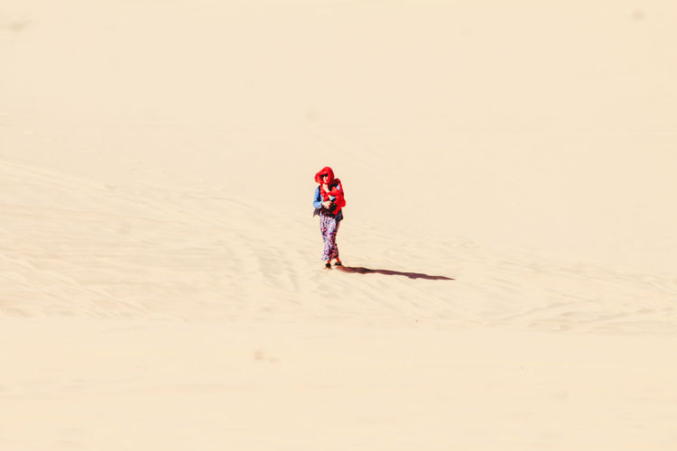 Lone Figure Walking Alone In The Desert One Person Sand Sand Dunes Full Length Vacations Solitude Travel Vietnam Travel Photography Mui Ne, Vietnam Tranquility Landscape Long Goodbye Go Higher