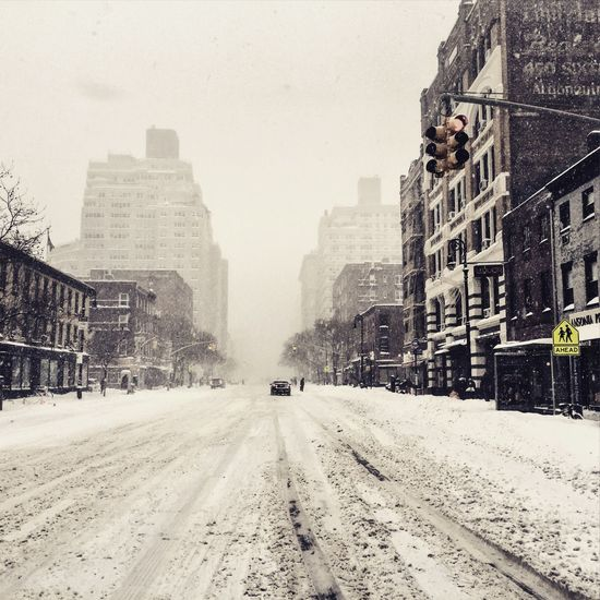 First Eyeem Photo West Village , Manhattan , NY. Winterstormjonas Season  Outdoors New York City New York ❤ NYC Photography Nycblizzrad2016