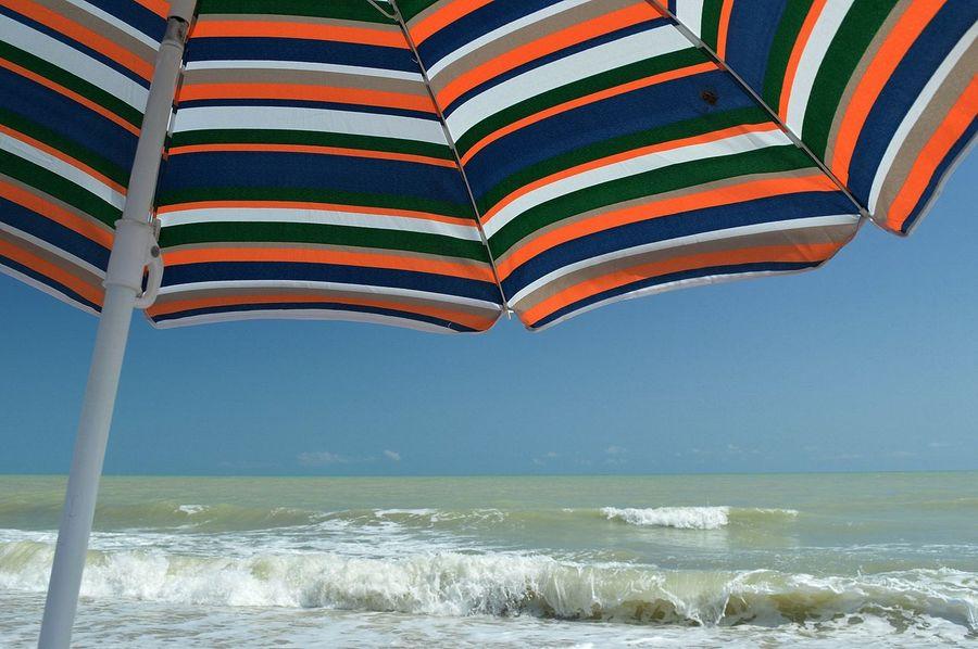 Hollidays Parasol Plage Sea Sea And Sky Seaside Sunbrella Tranquility Vacances Waves, Ocean, Nature