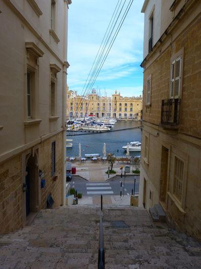 Streets of Senglea Malta Senglea Mediterranean  Street Streetphotography Architecture Building Exterior Built Structure Building City Transportation No People Sky