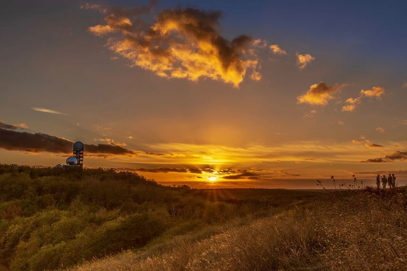 Teufelsberg EyeEm Best Shots Teufelsberg Berlin Sky Water Sea Sunset Land Beach Beauty In Nature Cloud - Sky Orange Color Horizon