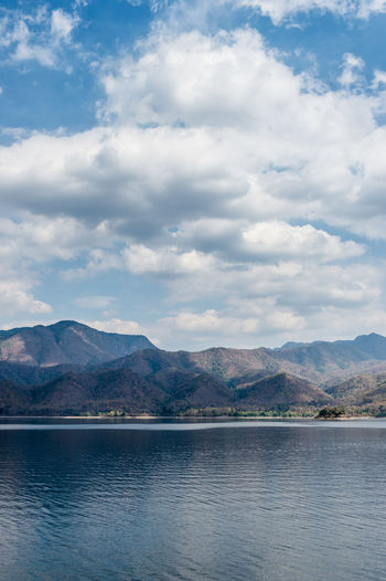 Cloud - Sky Mountain Sky Beauty In Nature Scenics - Nature Water Mountain Range Day Tranquil Scene Tranquility Nature Waterfront No People Outdoors Non-urban Scene Lake Idyllic Travel Destinations Environment View Into Land
