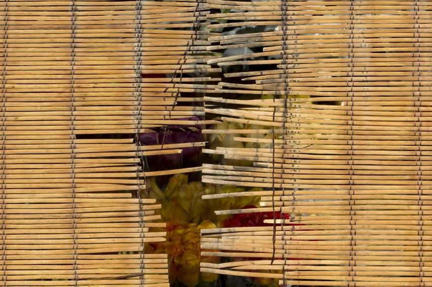 Wooden Blinds Flower Store Wooden Blocks Wooden Screen Still Life Urban Abstract