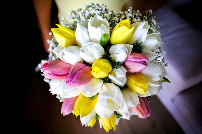 Wedding Beauty In Nature Bouquet Bunch Of Flowers Close-up Flower Flower Arrangement Flower Head Flowering Plant Focus On Foreground Fragility Freshness Indoors  Inflorescence Multi Colored Nature One Person Petal Plant Vulnerability  Women Yellow
