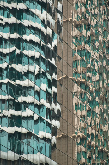 Abstract minimal style reflecting architecture in bangkok